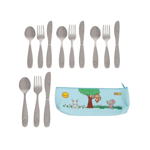 toddler utensils next to carrying case